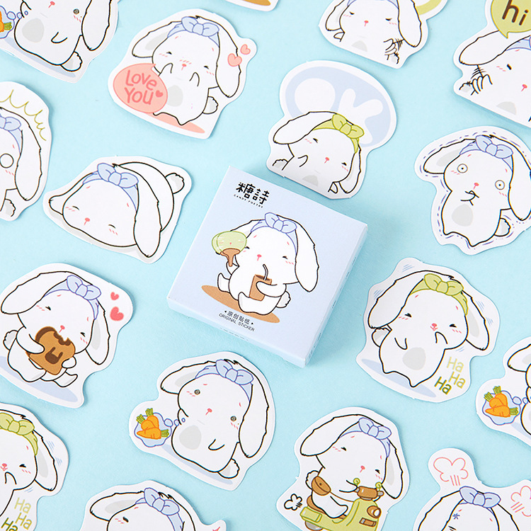 45Pcs/Pack Rabbit  Small Sticker For Kids DIY Diary Scrapbooking Photo Ablums