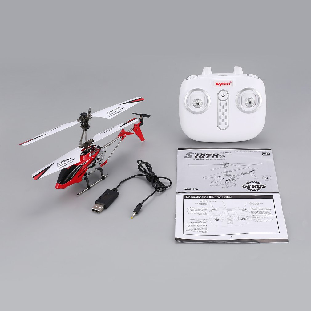 Original Syma S107H Gyro Metal 2.4G Radio 3.5H Mini Helicopter RC Remote Control Altitude Hold <font><b>Drone</b></font> for Toy Gift Present RTF fi image