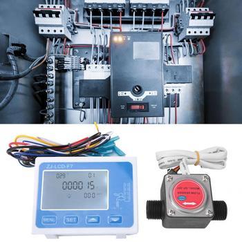 Cyfrowy miernik przepływu cyfrowy wyświetlacz LCD podświetlenie czujnik przepływu przepływomierz Totameter z SM2 54 wtyczka czujniki przepływu tanie i dobre opinie VBESTLIFE Elektryczne Flow Meter