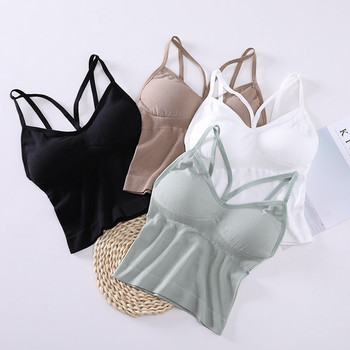 Deep V Women Sexy Bralette Soft Cotton Bra Solid Black White Push Up Padded Bralette Comfortable Underwear Wire Free Lingerie image