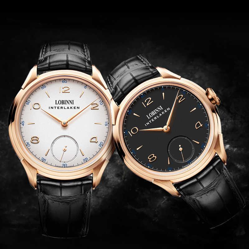 LOBINNI Seagull กลไกการเคลื่อนไหว часы механические relogio นาฬิกาข้อมือผู้ชาย Luxury Christmas ของขวัญเด็ก