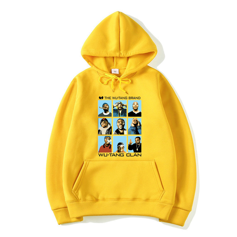 Wu Tang Clan Hoodie Fashion Hip Hop Band Logo Icon Design Hoodies Fashion Hooded Long Sleeve Sweatshirt Rap Music Tops Harajuku