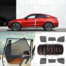 Автомобильный полноразмерный Магнитный солнцезащитный козырек от солнца с защитой от ультрафиолетовых лучей, сетчатый козырек для Mercedes Benz GLC