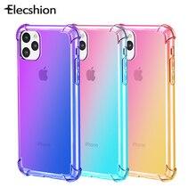 קשת סיליקון מקרה עבור iPhone 11 פרו שיפוע ברור כיסוי עבור iPhone 11 פרו מקס רך TPU מקרה Coque פגז עבור iPhone 11 Funda