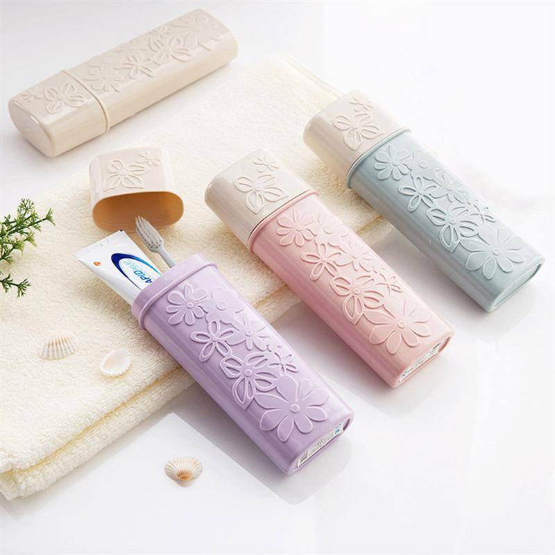 OUNONA Travel Toothbrush Case Portable Toothbrush Tube Cover Toothpaste Storage Box Holder For Travel Hiking Camping