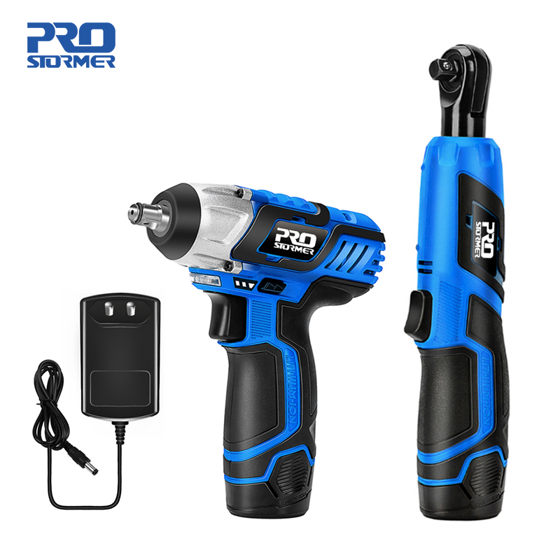 Cordless Ratchet Wrenches Car Repair Tool Set with LED 110-240V Electric Ratchet Wrench 3//8