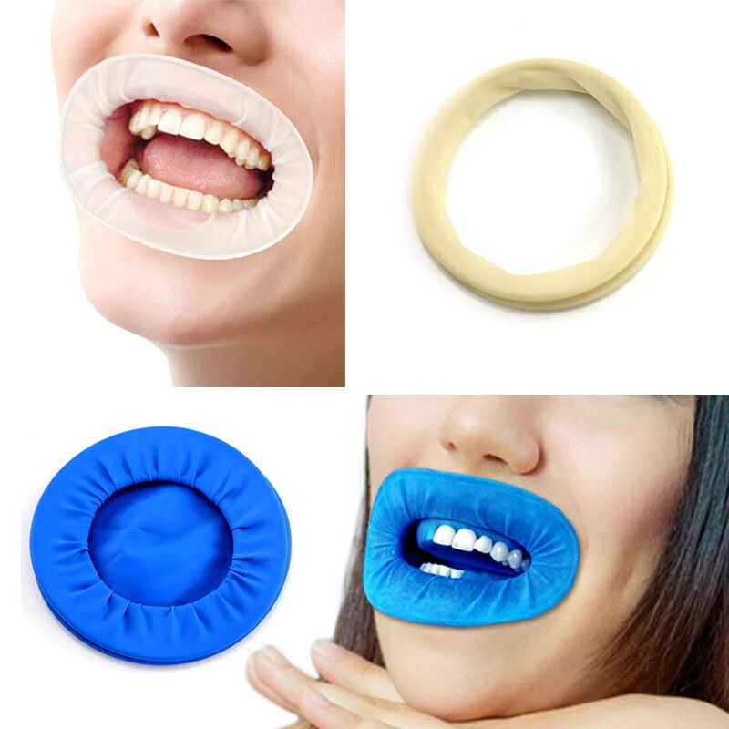 Rubber Dam Rubber Latex Dental Intraoral Dentistry Cheek Retractors Full Mouth Opener Oral Hygiene Care Teeth Whitening Material