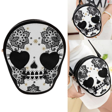 Halloween PU Leather Women Retro Skull Print Shoulder Crossbody Bag Handbag Shoulder Bags Gift Bags for Women 2020 Bolsa Feminin