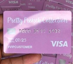 1000 pièces cartes de texture de gel mat/carte de membre/cartes de réduction cadeau service d'impression cartes de crédit numéros de série