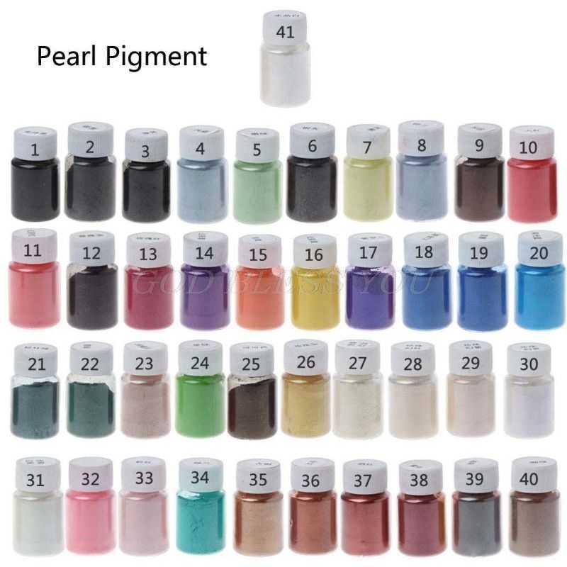 41 צבע Pearlescent נציץ אבקת אפוקסי שרף צבע פנינה פיגמנט תכשיטי ביצוע 10g Drop