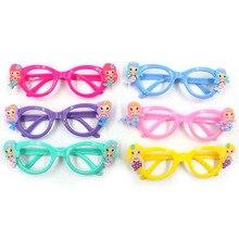 6 Colors Cartoon Mermaid Glasses Environmental Cute Children Glasses Lens-Free Frame Glasses Gifts for Kid`s Birthday Favor metal frame glasses page 6