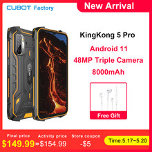 CUBOT Kingkong 5 Pro Robuste Smartphone Wasserdichte IP68/IP69K Globale 4G LTE 8000mAh Android 11 Dual Lautsprecher NFC Handy