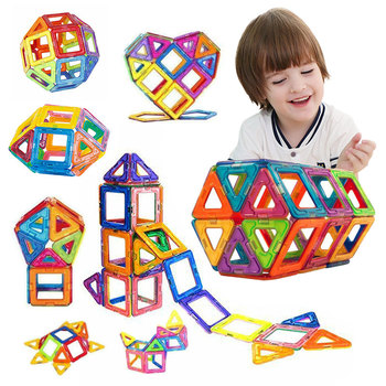 50PCS Mini Magnetic Building Blocks Magnetic Designer Construction Set Model  Building  Magnets Magnetic Blocks Educational Toys