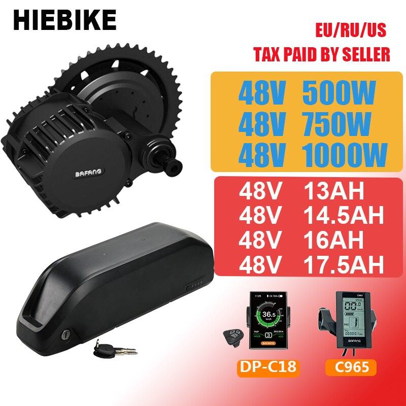 Batterie Ebike 48v avec moteur Bafang 500/750/1000W BBS02 BBSHD 48V 13/14. 5/16/17.5AH batterie au Lithium Kit de vélo électrique puissant