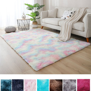 New Gradient Color Plush Soft Carpet Thickened Area Rug Water Absorb Anti-slip Floor Mat For Bedroom Living Room Home Decor