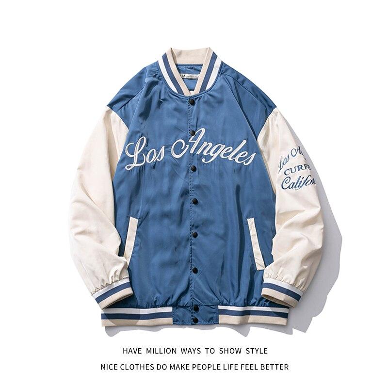 2021 New Spring & Autumn Embroid sottile Oversize da donna stile fidanzato giacca da Baseball Bomber da uomo coppia Unisex 1