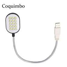 Black Flexible Arms 15 LEDs USB Flashlight USB LED Lamp For Laptop Notebook PC Computer LED USB Light