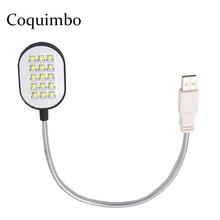 Schwarz Flexible Arme 15 LEDs USB Taschenlampe USB LED Lampe Für Laptop Notebook PC Computer LED USB Licht