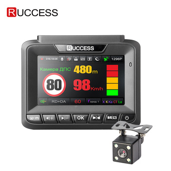Ruccess 3 in 1 DVR del Precipitare Della Macchina Fotografica full HD 1080p Videocamera per auto MSTAR Dual lens Video recorder GPS Radar Detector guardia di parcheggio