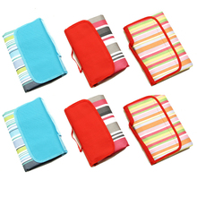 Beach-Blanket Hiking-Mats Foldable Outdoor Picnic Waterproof Stripe Retro Camp for Multiplayer