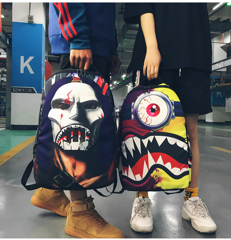 School Bags For Teenage Boys Girls School Backpack Hip Hop Cartoon Bag College School Student Schoolbag Big Eyes Kinder Women