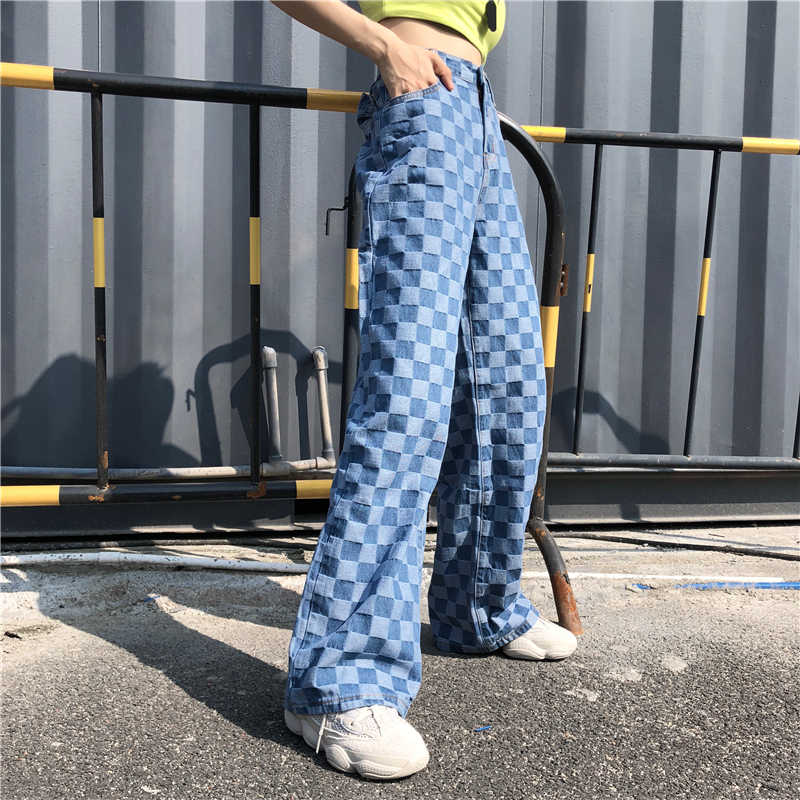 Checkered Green and White Womens Flowy Pajama Style Printed Pants  Vintage 90s Deadstock  Check Gingham Print High Waisted Bottoms