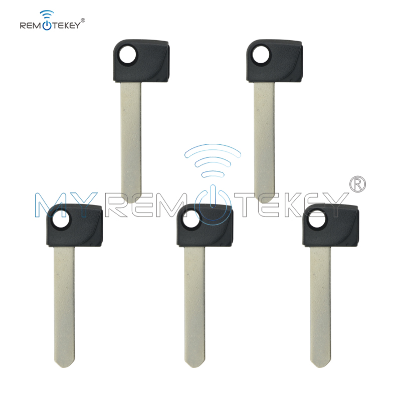 Remtekey 5pcs small insert key blade HON66 For Honda smart emergency key blade blank uncut blade