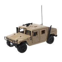 цена на 1:18 Alloy Military Model Diecast Toys Metal Humvee Model Military Collection Car Toy