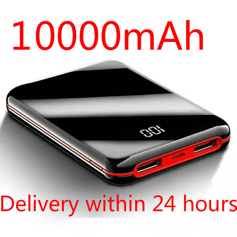 SOODOO 10000mah Power Bank External Battery PowerBank 2 USB LED Powerbank Portable Mobile Phone Charger For Xiaomi MI Iphone 8 X