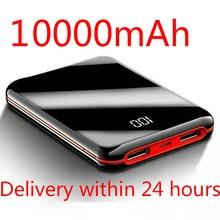 SOODOO 10000mah Power Bank External Battery PowerBank 2 USB LED Powerbank Portable Mobile Phone Charger for Xiaomi MI Iphone 8 X