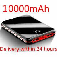 SOODOO 10000mah batería externa PowerBank 2 USB LED Powerbank cargador de teléfono móvil portátil para Xiaomi mi Iphone 8 X