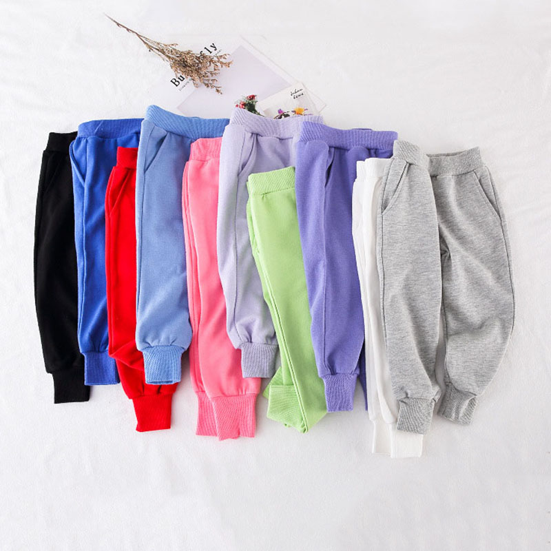 2-8T Toddler Kid Baby Boy Girl Clothes Spring Autumn Sport Pants Casual Fitness Workout Sweatpants Candy Color Trousers