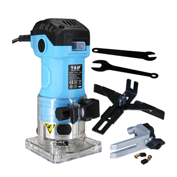 230V 600W Electric Laminate Edge Trimmer Handheld Wood Router 6.35mm Collet Woodworking Milling Tools for Home Diy Owners