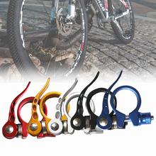 цена на 31.8mm Alloy MTB Bike Seat Clamp Aluminium Quick Release Mountain Road Fixed Gear Bicycle Seatpost Clamp