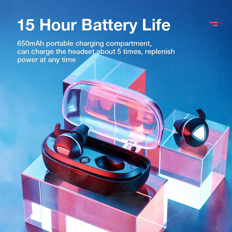 Wireless Earphones Bluetooth Headphones Sports Earbuds Stereo Headset Handsfree Auriculares For All Phones Xiaomi Samsung - 5