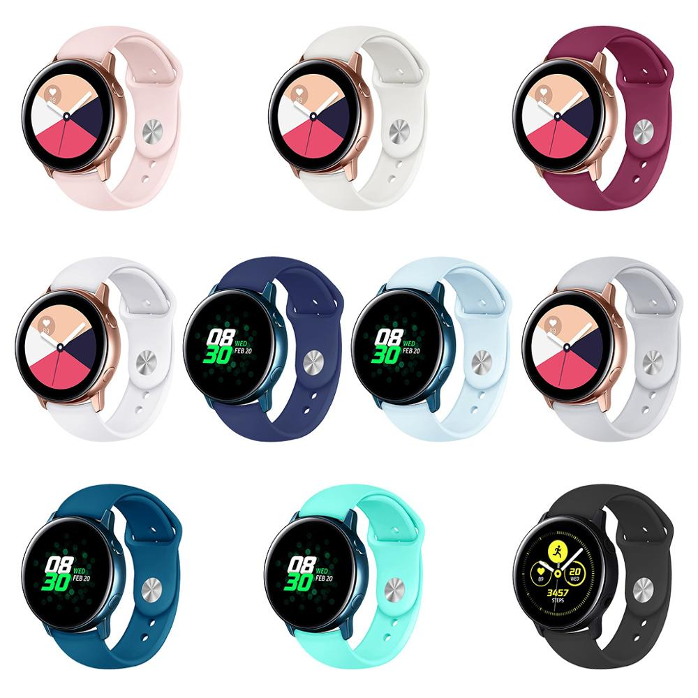 Galaxy Watch Active 2 Band For Samsung Galaxy Watch 42mm Gear S2 Sport Watchband Accessories 20mm Silicone Smart Bracelet Strap