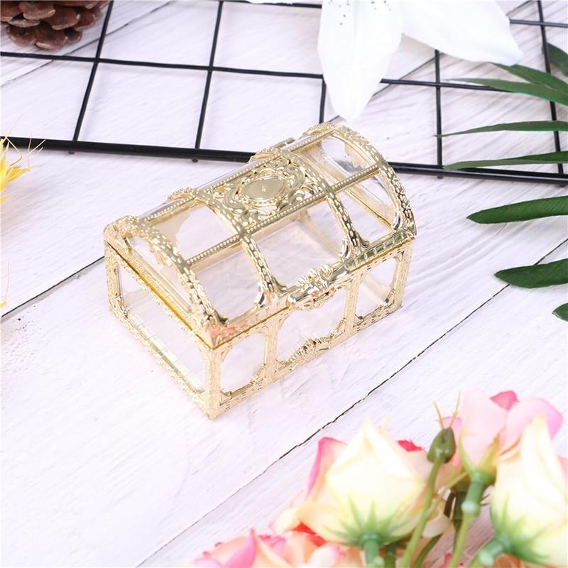 1 шт., пустотелая Золотая фольга, коробка для торта и конфет, для свадьбы, свадьбы, для детского душа, Подарочная коробка, упаковка, вечерние принадлежности для мероприятий - Цвет: Золотой