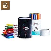 Bravokids 24 색 수채화 물감 펜 밝은 색 그림 그리기 수채화 아트 마커 펜 학교 용품