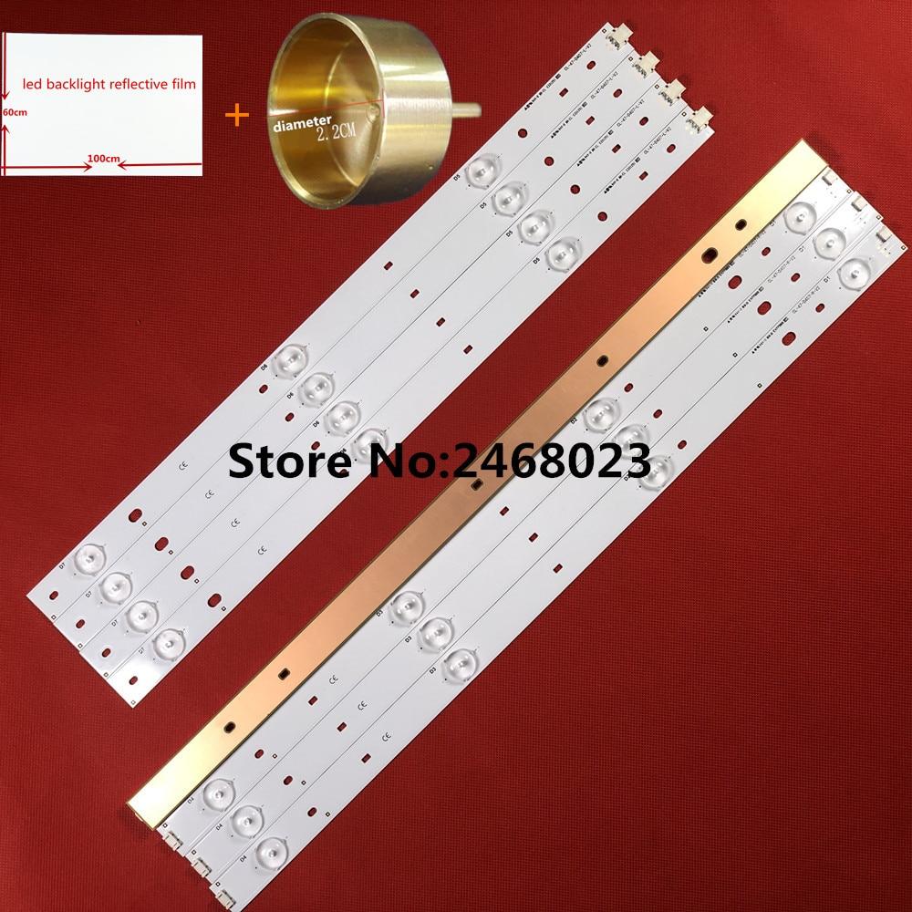 LED Backlight Strips (8) for Phi lips CL-47-D407-R-V2 CL-47-D407-L-V2 replacement for CL-47-D407-R-V4 CL-47-D407-L-V4