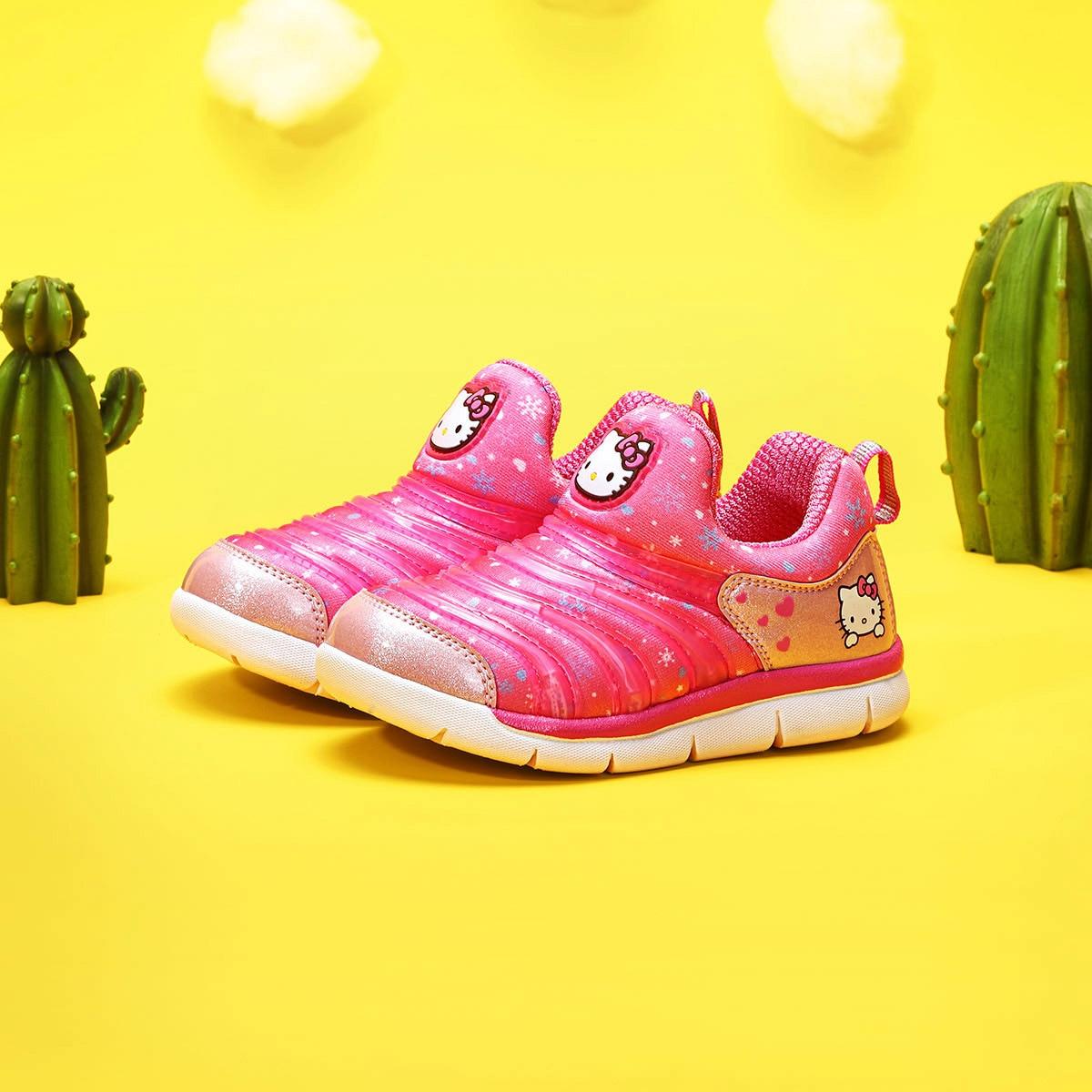 Hello Kitty Spring And Autumn Cartoon Printed Sweet Girls CHILDREN'S Shoes Girls Baby Children Caterpillar