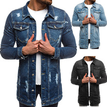 Jean Jacket Men Denim Jackets, Mens Coats and Jackets, Men Jacket,denim Jacket, Men Jeans Jacket, Jacket Men, Long Coat,jacket men pockets denim jacket