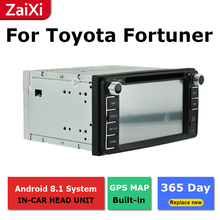 ZaiXi 2Din For Toyota Fortuner 2005~2014 Car Android Radio Multimedia Player GPS Navigation IPS Screen HiFi