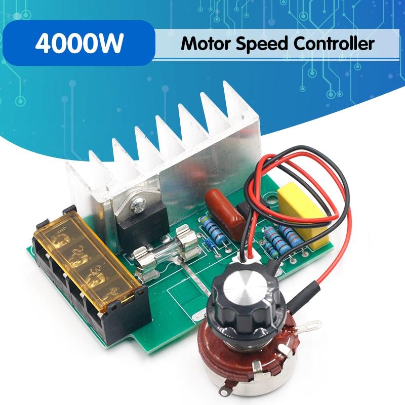 4000w 0-220v ac scr regulador de tensão elétrico regulador de velocidade do motor dimmers escurecimento velocidade com seguro de temperatura