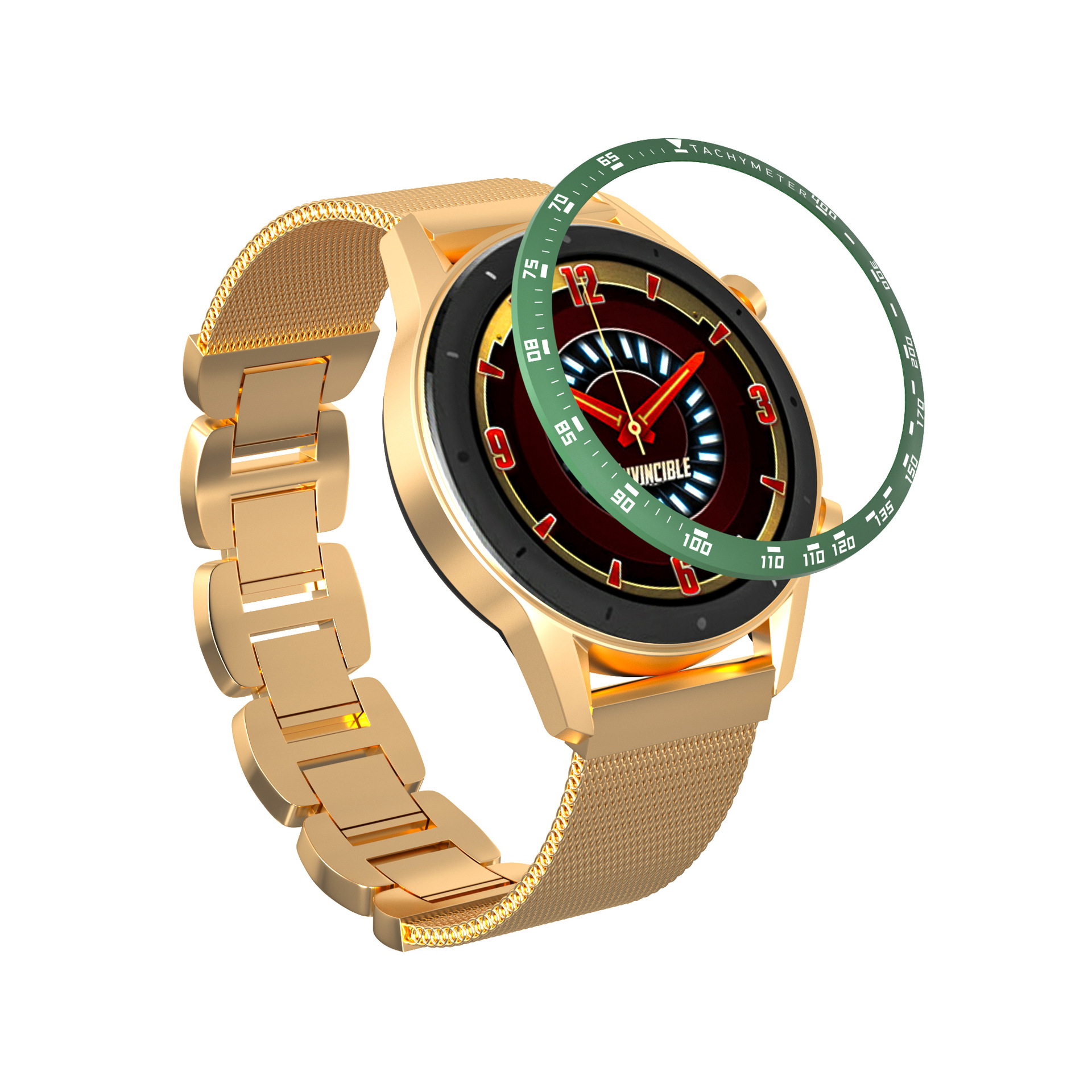 For Xiaomi Amazfit GTR 47MM Metal Outer Edge Cover Colorful Smart Watch Bezel Ring Adhesive Cover Anti Scratch Metal Case Frame
