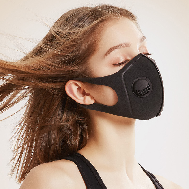 PM2.5 Pollution Half Face Mouth Mask With Breath Wide Straps Washable Reusable Muffle Respirator Unisex Sponge Dustproof