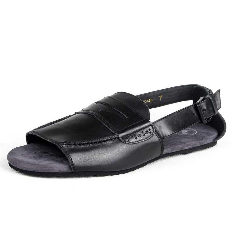 Phong Cách Châu Âu Giày MYS Sandal Da Cao Cấp Thoáng Khí Trượt Thời Trang Khóa Retro Võ Sĩ Giác Đấu Dép Đi Biển Mùa Hè Giày Nam
