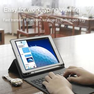 Image 5 - 7 colores Teclado retroiluminado funda para iPad Air, iPad Pro 9,7, 2018, 2017 1 2 5th 6th Pro 10,5 3 11 Smart teclado Bluetooth para iPad Pro 11 pulgadas 3 2019 casos Shell