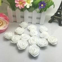 10 pçs branco pe espuma falso flor rosas cabeça artificial flores decoração de casamento barato para scrapbooking presente caixa diy grinalda
