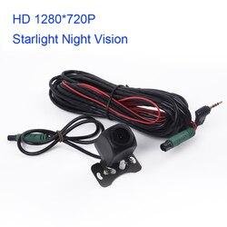 Tylna kamera samochodowa 12V wizja nocna w świetle gwiazd lustro 1280*720 dla samochodów 5 PIN nagrywarka dvd pojazdu kamera cofania w Kamery pojazdowe od Samochody i motocykle na