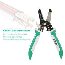 Neue BERRYLION 2 in 1 Draht Kabel Cutter Scheren Draht Stripper Draht Schneiden Drücken Abisolieren Zange Elektriker Hand Werkzeuge